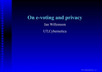 On e-voting and privacy