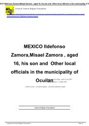 MEXICO Ildefonso Zamora,Misael Zamora , aged 16, his son and ...