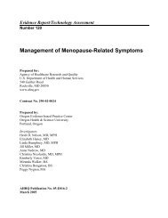 Management of Menopause-Related Symptoms - AHRQ Archive ...