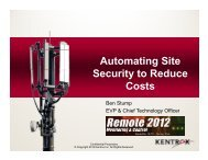 Automating Site Security to Reduce Costs - Remote Magazine