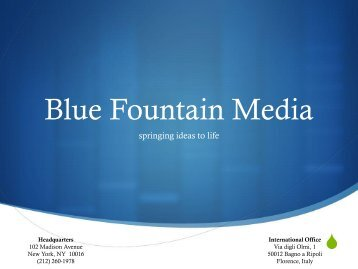 Blue Fountain Media Presentation - City Tech OpenLab