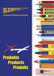 Professional Marking and Writing BLEISPITZ GmbH - Inter-Bis