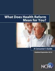 What Does Health Reform Mean for You? - National Center for ...