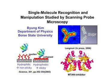 Single-Molecule Recognition and Manipulation Studied by ...