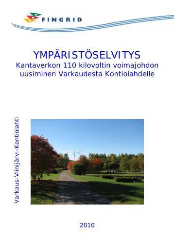 Varkaus–Kontiolahti ympäristöselvitysraportti - Fingrid