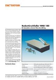 16 DICTATOR Bodentürschließer WAB 180