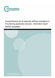 Draft list of statutory consultees - Planning Portal