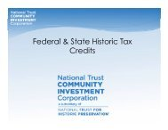 Federal & State Historic Tax Credits - New Partners for Smart Growth ...