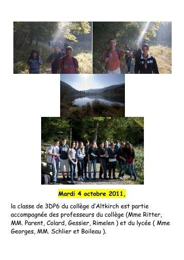 Mardi 4 octobre 2011 - Collège Lucien Herr à Altkirch