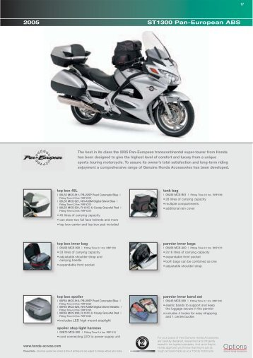 ST1300 Pan-European ABS - Doble Motorcycles
