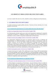 Droits et obligations des fonctionnaires - Emploipublic.fr