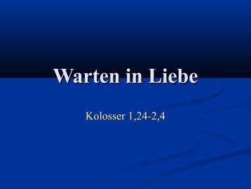 Kolosser 1 - EFG Hemsbach