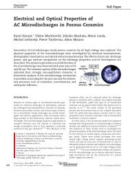 Electrical and Optical Properties of AC Microdischarges in Porous ...