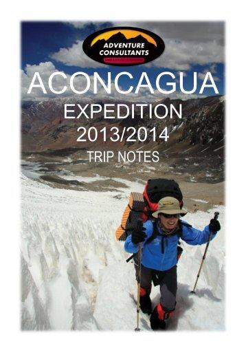 Aconcagua 2013-2014 - Adventure Consultants
