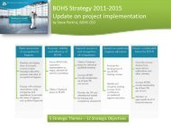 BOHS Strategy 2011-2015 Update on project implementation