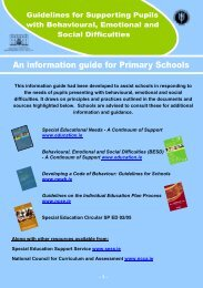 Guidelines for supporting pupils with behavioural, emotional and