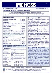 HGSS News 4 10 13 - Hampstead Garden Suburb Synagogue