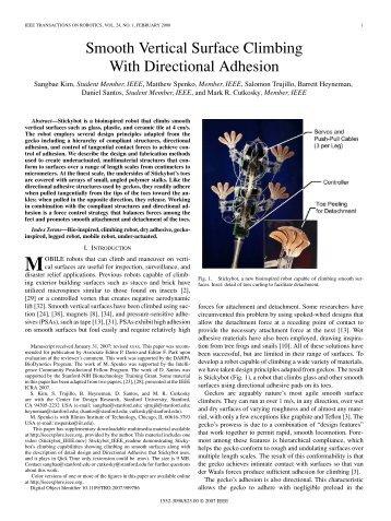 ieee transactions on robotics, vol. 24, no. 1 - Biomimetics and ...