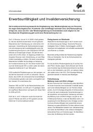Erwerbsunfähigkeit und Invalidenversicherung - Swiss Life