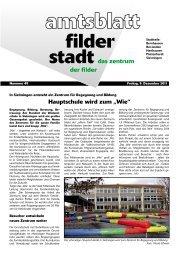 """Hauptschule wird zum """"Wie"""" - Stadt Filderstadt"""