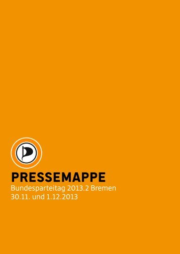 Pressemappe Bundesparteitag 2013.2 Bremen - Piratenpartei ...