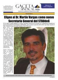 Eligen al Dr. Martín Vargas como nuevo Secretario General del ...