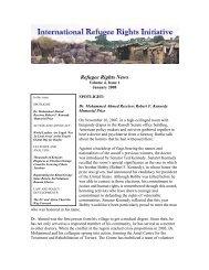 January 2008 - International Refugee Rights Initiative