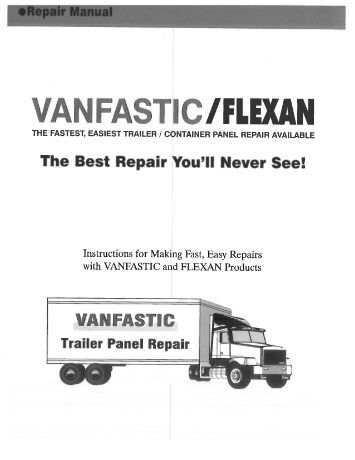 VanFastic Repair Manual - CBS Parts Ltd.