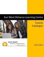 2013-14 DLC Course Catalogue - Sun West School Division