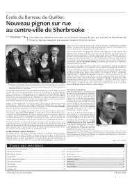 Journal du Barreau - Volume 40, num.ro 4 - Avril 2008 - Barreau du ...