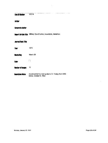 Item ID Number 00214 Author Corporate Author Journal - Special ...