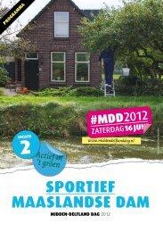 Sportief maaSlandSe dam - het nieuws van 2012