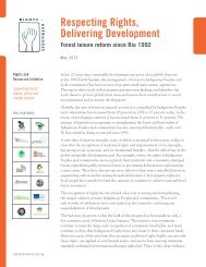 Respecting Rights, Delivering Development: Forest Tenure Reform ...
