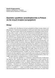 Zjawisko upadłości przedsiębiorstw w Polsce na tle innych krajów ...
