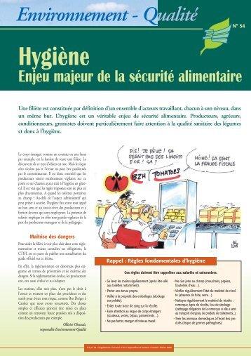 Hygiène : Enjeu majeur de la sécurité alimentaire - Cerafel