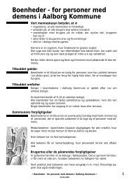 Indretning af boliger for personer med demens - Aalborg Kommune