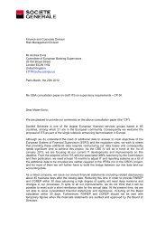 Societe Generale - European Banking Authority - Europa
