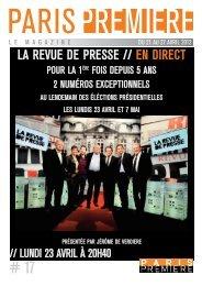 LA REVUE DE PRESSE // EN DIRECT