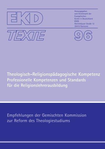 Theologisch-Religionspädagogische Kompetenz - Evangelische ...
