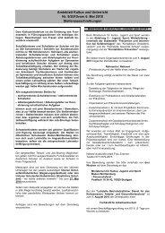 Amtsblatt Kultus und Unterricht Nr. 9/2010vom 6. Mai 2010 ...
