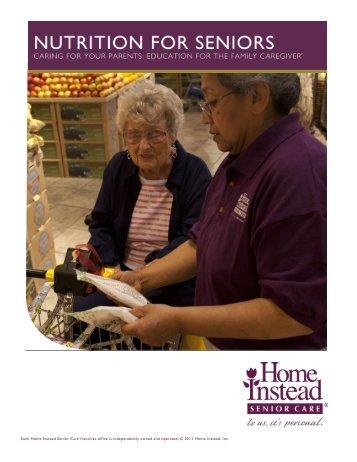 Nutrition for Seniors workbook - CaregiverStress.com