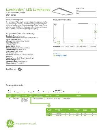 GE Lumination LED BT24 Series Spec Sheet - Graybar