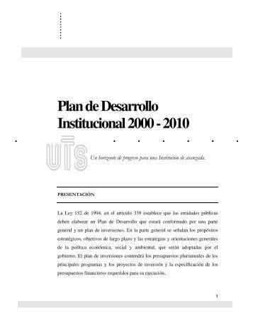 Plan de Desarrollo Institucional 2000 - 2010 - Unidades ...