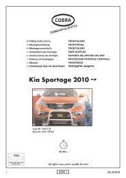 Kia Sportage 2010 - Cobra-SOR