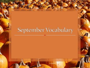 September Vocabulary