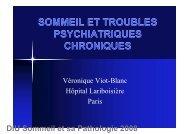 SOMMEIL ET TROUBLES PSYCHIATRIQUES ... - SPLF