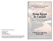 From Egypt To Canaan - ElectronicGospel