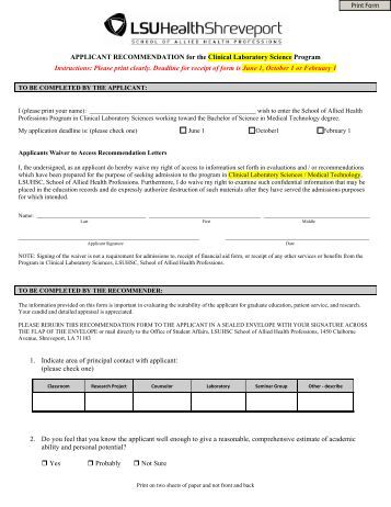 Medical School Recommendation Letter Guidelines