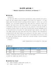 대사공학 심포지움 Ⅱ - 한국미생물생명공학회