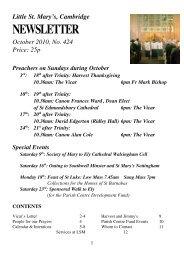 October 2010 Newsletter - Little St Mary's